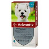 Капли на холку от блох и клещей Bayer Advantix для собак весом от 4 до 10 кг