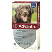 Капли на холку от блох и клещей Bayer Advantix для собак весом от 25 кг
