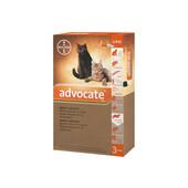 Капли на холку от блох, клещей и глистов Bayer Advocate для кошек до 4 кг