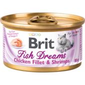 Влажный корм для кошек Brit Fish Dreams Chicken Fillet & Shrimps