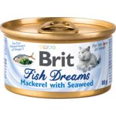 Влажный корм для кошек Brit Fish Dreams Mackerel & Seaweed