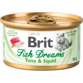 Влажный корм для кошек Brit Fish Dreams Tuna & Squid
