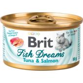 Влажный корм для кошек Brit Fish Dreams Tuna & Salmon