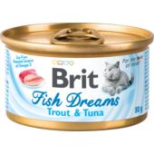 Влажный корм для кошек Brit Fish Dreams Trout & Tuna