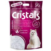 Силикагелевый наполнитель для кошачьего туалета Cristals Fresh с ароматом лаванды