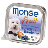 Влажный корм для собак Monge Fruit Turkey & Blueberry