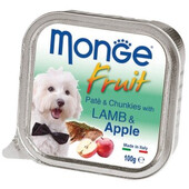 Влажный корм для собак Monge Fruit Lamb & Apple