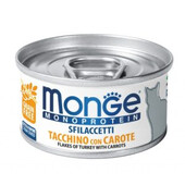 Влажный корм для кошек Monge Monoprotein Flakes Of Only Turkey With Carrots