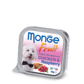 Влажный корм для собак Monge Fruit Chicken & Raspberry