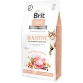 Сухой корм для кошек Brit Care Grain-Free Sensitive Healthy Digestion & Delicate Taste Fresh Turkey & Salmon
