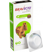 Жевательная таблетка от блох и клещей Bravecto для собак весом от 10 до 20 кг