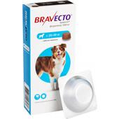 Жевательная таблетка от блох и клещей Bravecto для собак весом от 20 до 40 кг