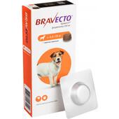 Жевательная таблетка от блох и клещей Bravecto для собак весом от 4,5 до 10 кг