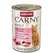 Консерва для кошек Animonda Carny Adult с индейкой, курицей и креветками