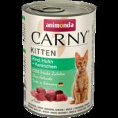 Консерва для котят Animonda Carny Kitten с говядиной, курицей и кроликом